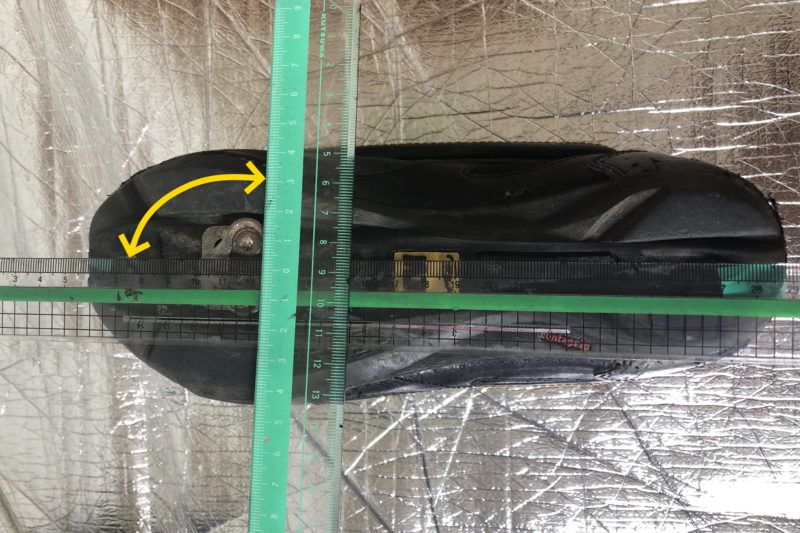 ビンディングシューズのクリート角の測り方
