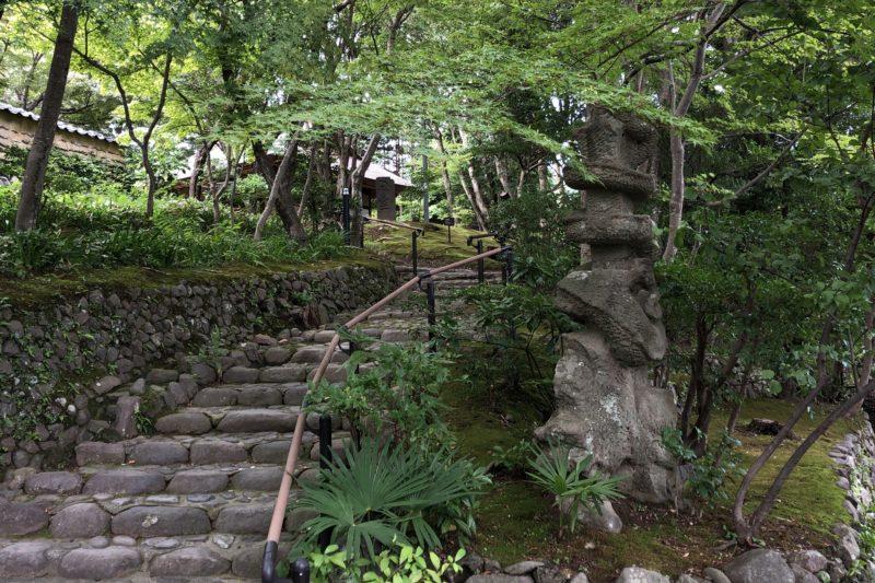松永記念館の階段