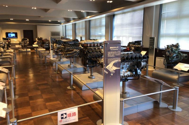 日産エンジンミュージアムの展示エンジン