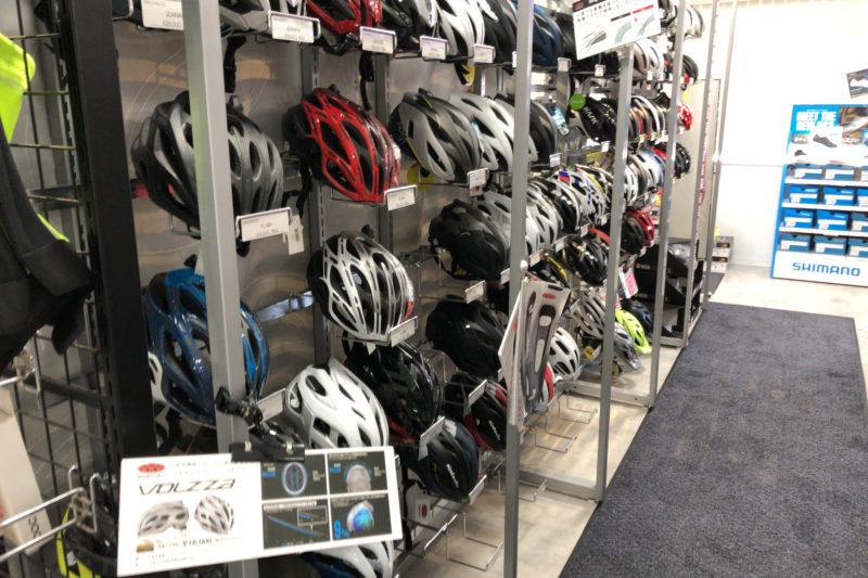ワイズロード横浜のヘルメットコーナー