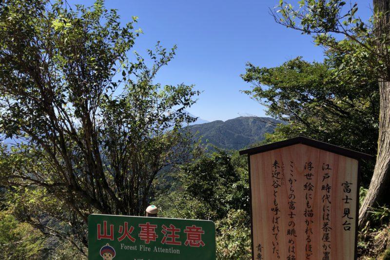 大山登山道の富士見台