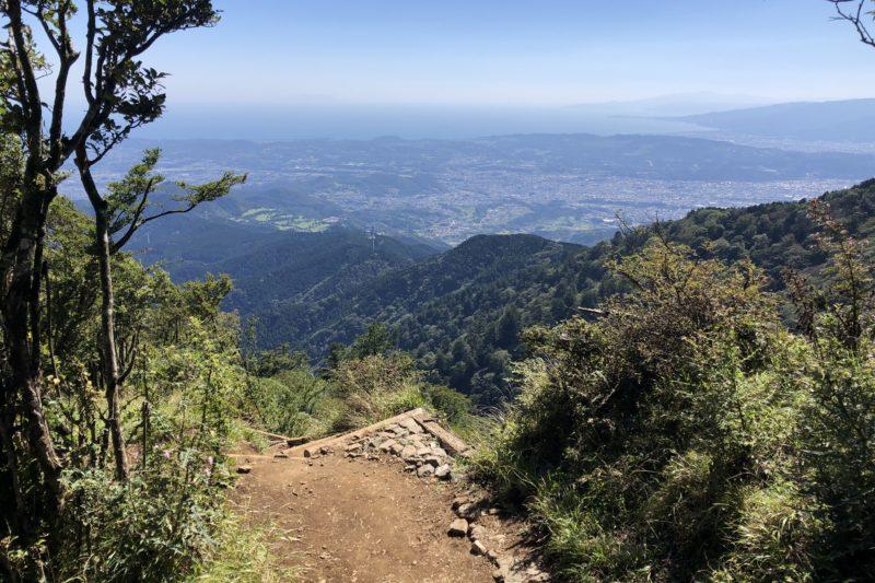 大山登山道からの景色