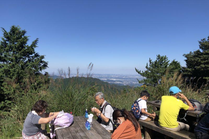 大山登山道の見晴台