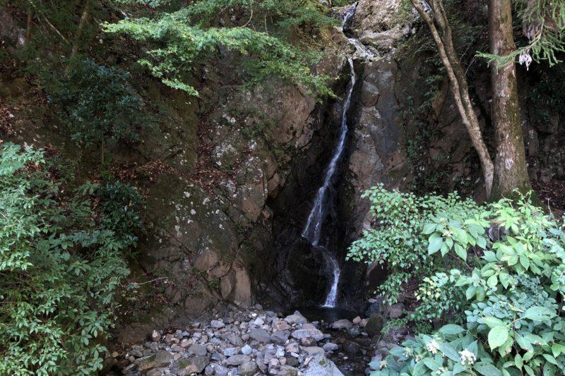 大山登山道の二重の滝