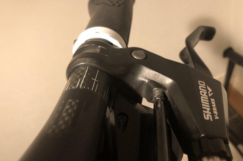 クロスバイクのブレーキレバーリーチ調整
